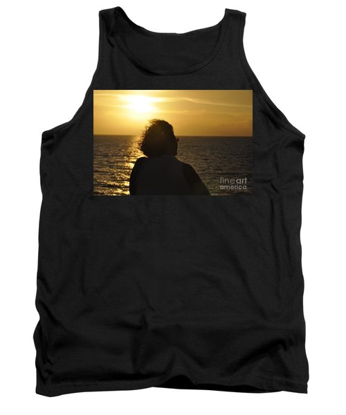 Tank Top featuring the photograph Sunset Silhouette by John Black