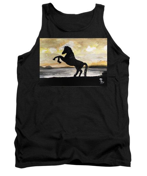 Sunset Stallion Tank Top by Carole Robins