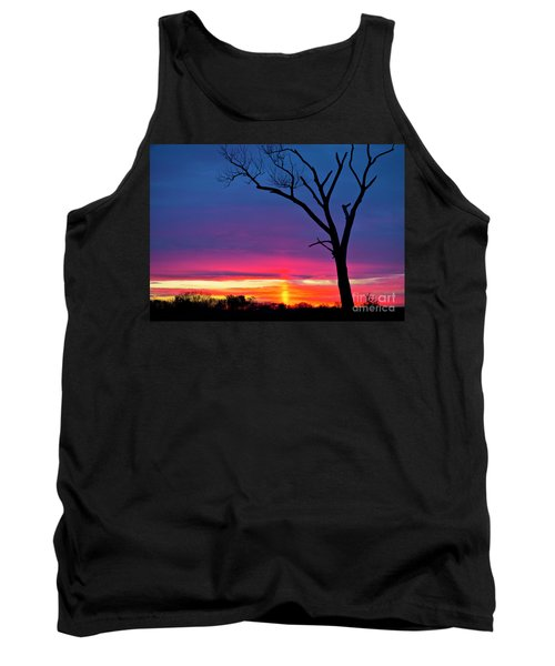 Sunset Sundog  Tank Top by Ricky L Jones