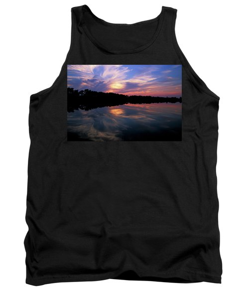 Tank Top featuring the photograph Sunset Swirl by Steve Stuller