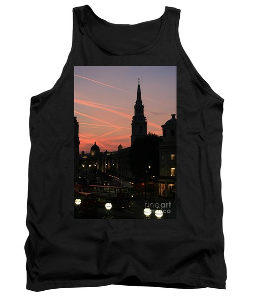 Sunset View From Charing Cross  Tank Top by Paula Guttilla