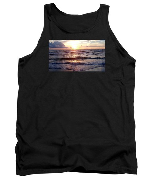 Tank Top featuring the photograph Sunset Waves 1 by Vicky Tarcau