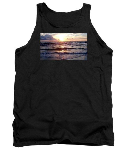 Sunset Waves 1 Tank Top by Vicky Tarcau