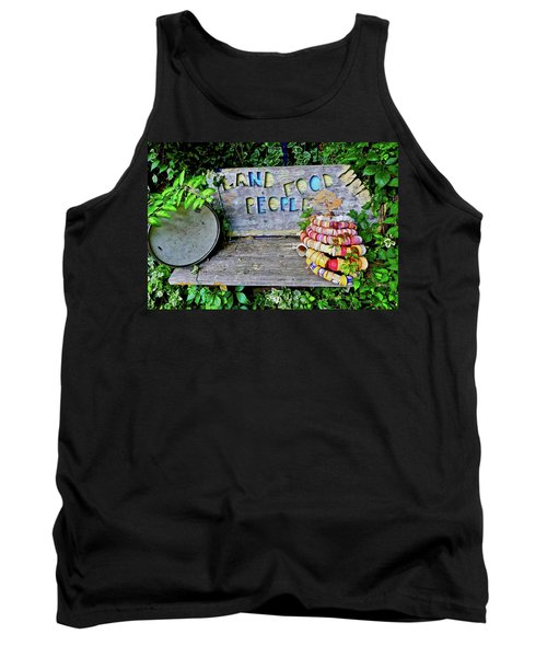 Tank Top featuring the painting Sunshine Bench by Joan Reese
