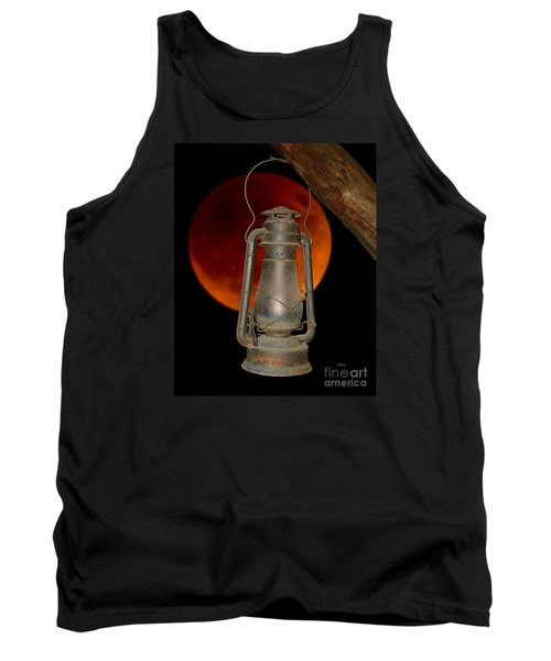 Eerie Light Of An Eclipsed Super-moon Tank Top by Patrick Witz