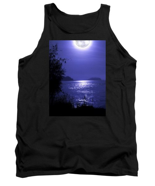 Tank Top featuring the photograph Super Moon by Laura Ragland