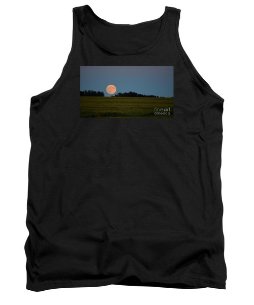 Tank Top featuring the photograph Super Moon Over A Bean Field by Mark McReynolds