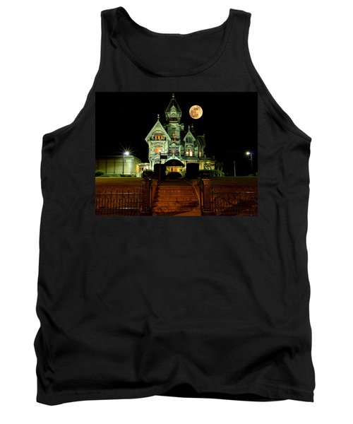 Super Moon Over Carson Mansion Tank Top