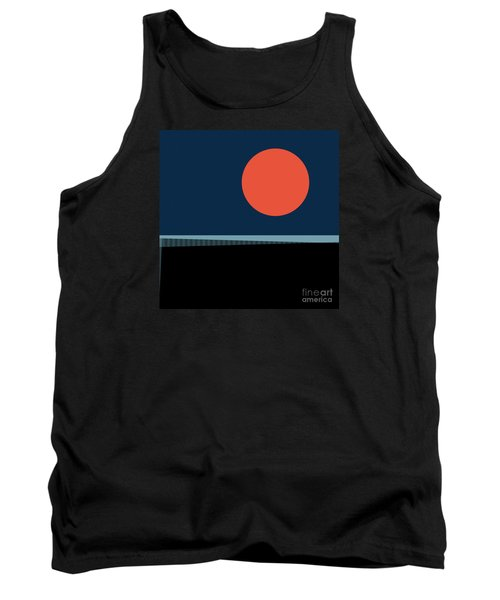 Tank Top featuring the digital art Supermoon Over The Sea by Klara Acel