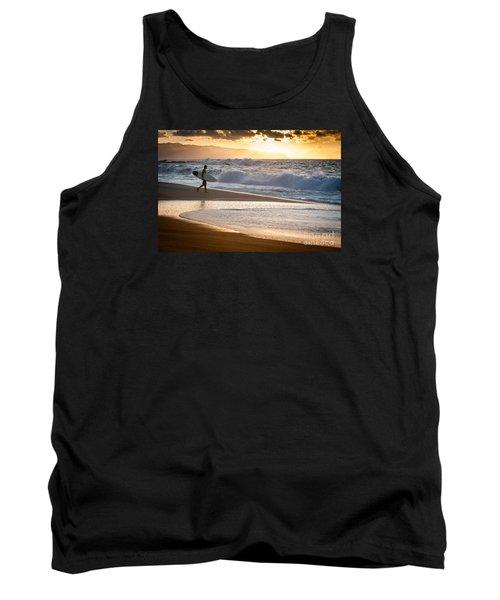 Surfer On Beach Tank Top