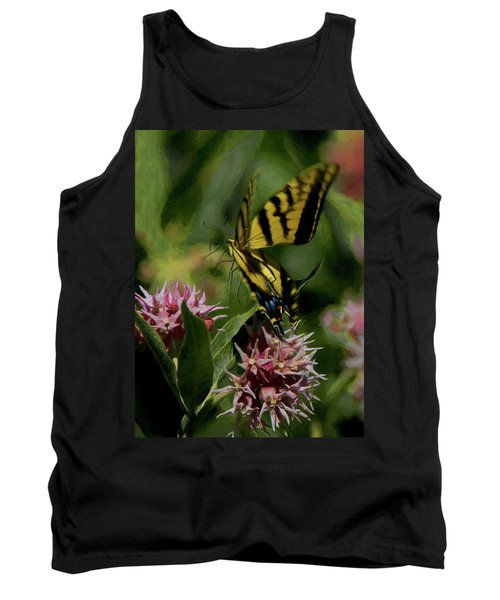 Swallowtail Liftoff Dp Tank Top by Ernie Echols