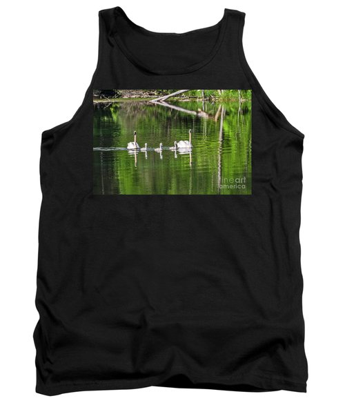 Swan Family With Triplets Tank Top