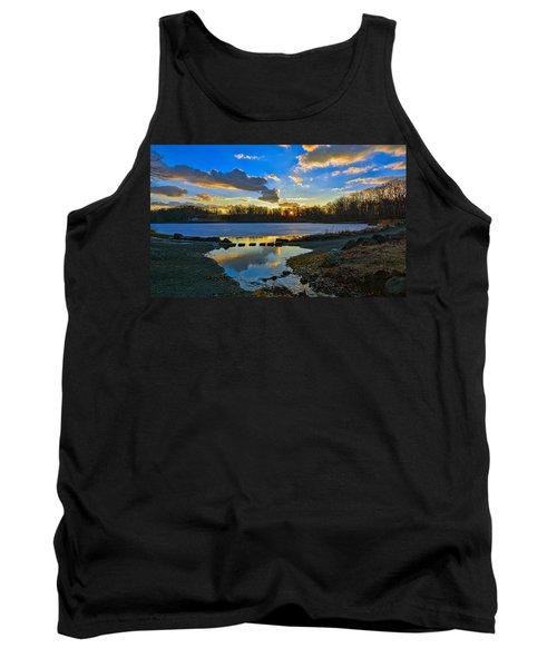 Swan Lake Sunset Tank Top