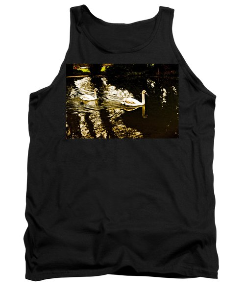 Swans On River Wey Tank Top