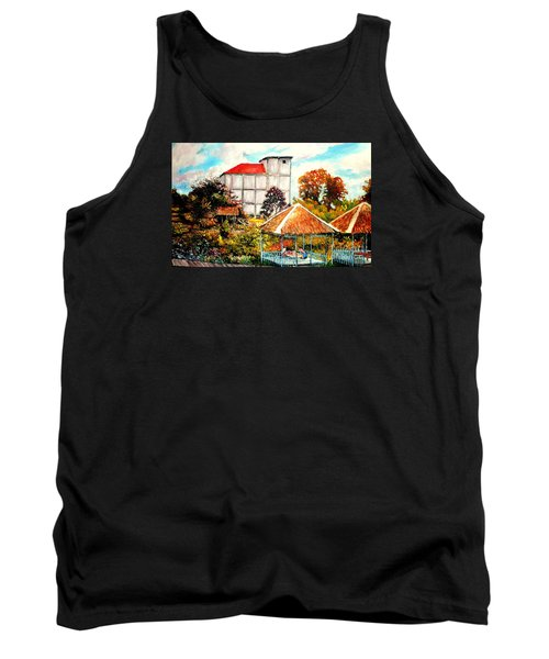 Tank Top featuring the painting Swifts  Nest's Building by Jason Sentuf