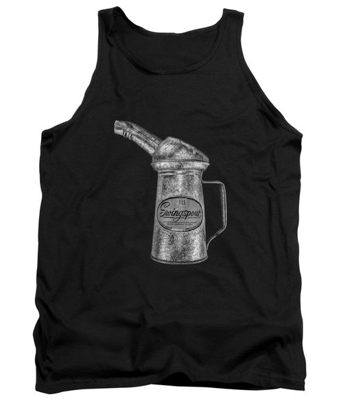 Swingspout Oil Can Bw Tank Top by YoPedro