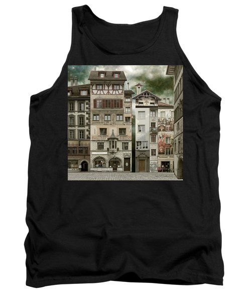 Swiss Reconstruction Tank Top by Joan Ladendorf