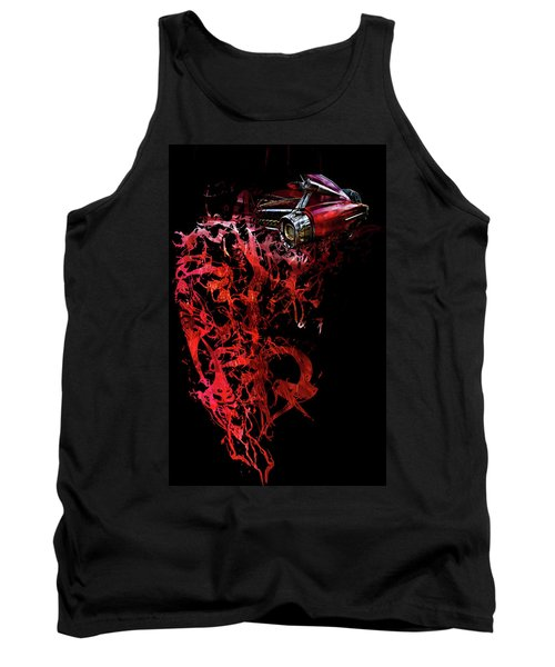 T Shirt Deconstruct Red Cadillac Tank Top
