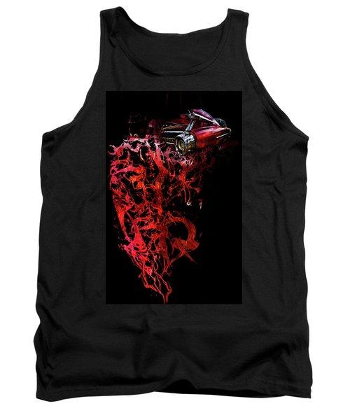 T Shirt Deconstruct Red Cadillac Tank Top