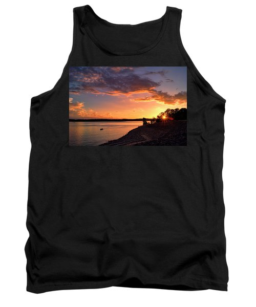Tank Top featuring the photograph Table Rock Sunset by Cricket Hackmann