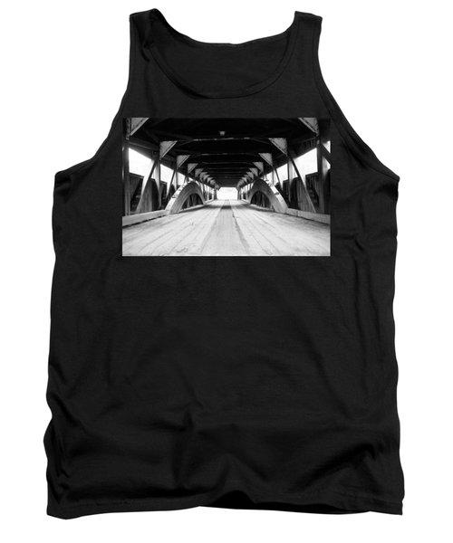 Taftsville Covered Bridge Tank Top by Greg Fortier