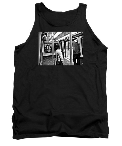 Tank Top featuring the photograph Take The A Train by Artists With Autism Inc