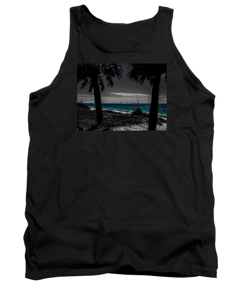 Tank Top featuring the photograph Tampa Bay Blue by Randy Sylvia