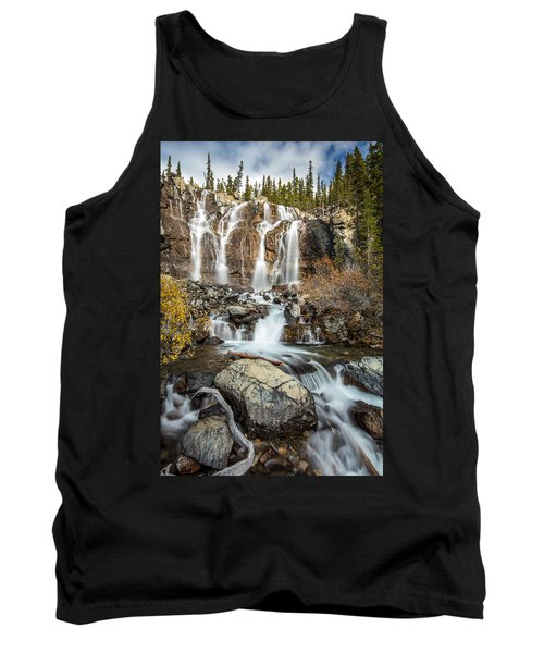 Tangle Waterfall On The Icefield Parkway Tank Top