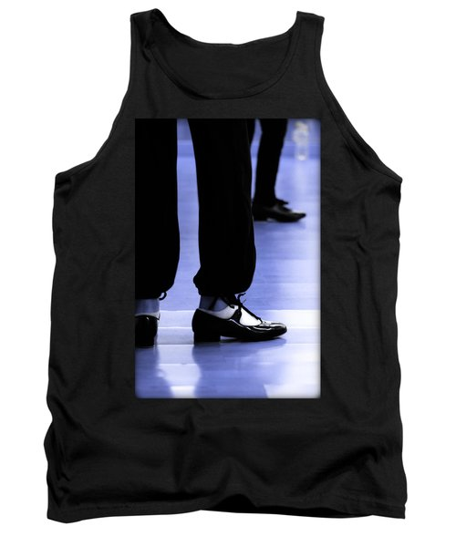 Tap Dance In Blue Are Shoes Tapping In A Dance Academy Tank Top