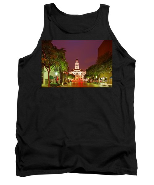 Tarrant County Courthouse At Twilight - Fort Worth North Texas Tank Top