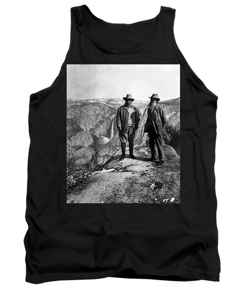 Teddy Roosevelt And John Muir - Glacier Point Yosemite Valley - 1903 Tank Top