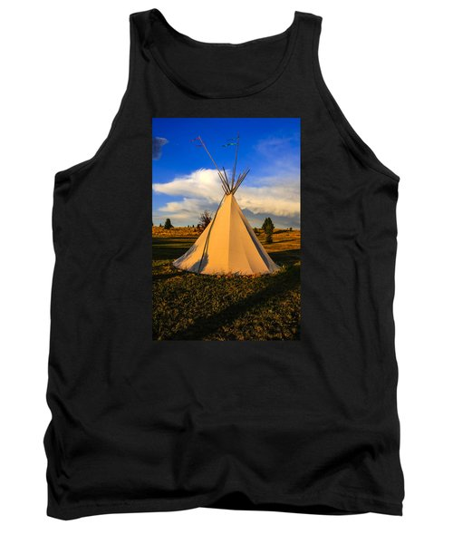 Teepee In Montana Tank Top by Chris Smith