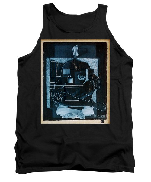 Tank Top featuring the painting Tense Leisure by Fei A