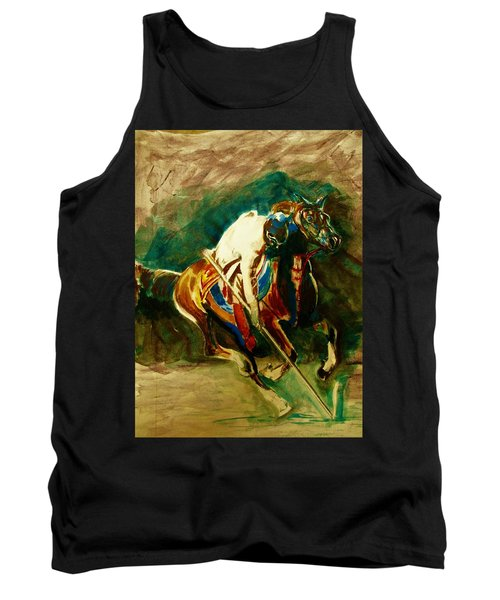 Tent Pegging Sport Tank Top by Khalid Saeed