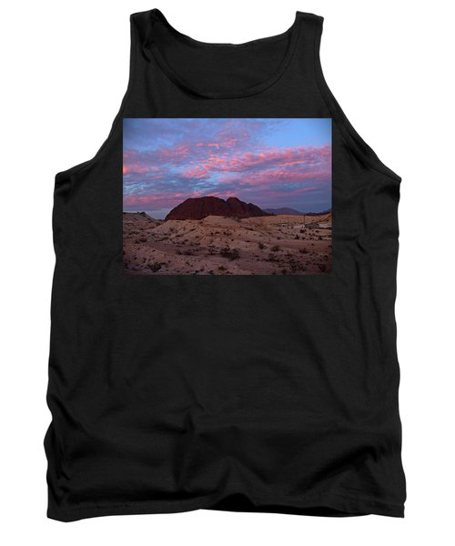 Tank Top featuring the painting Terlingua Sunset by Dennis Ciscel