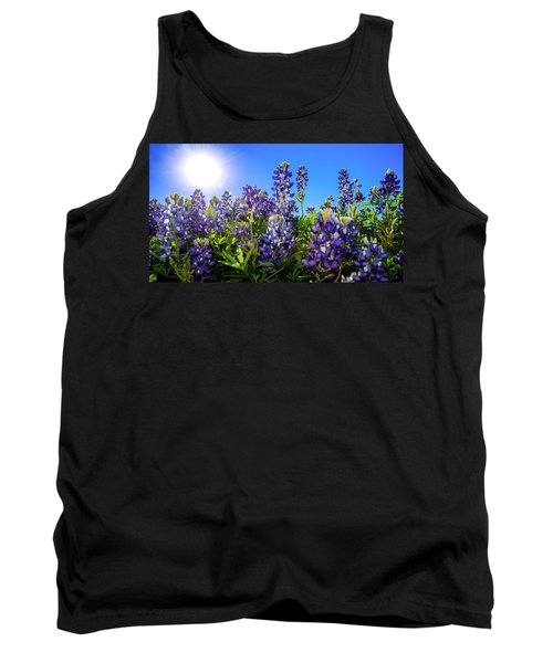 Texas Bluebonnets Backlit II Tank Top