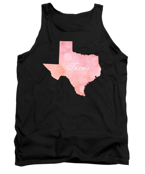 Texas Pink And Coral Bokeh Tank Top