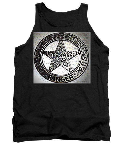 Tank Top featuring the photograph Texas Ranger Badge by George Pedro