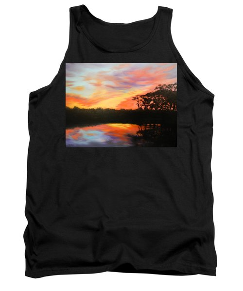Texas Sunset Silhouette Tank Top by Patti Gordon