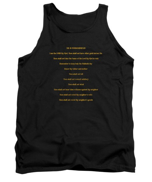 The 10 Commandments Tank Top by Rose Santuci-Sofranko