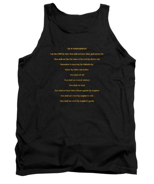 The 10 Commandments Tank Top