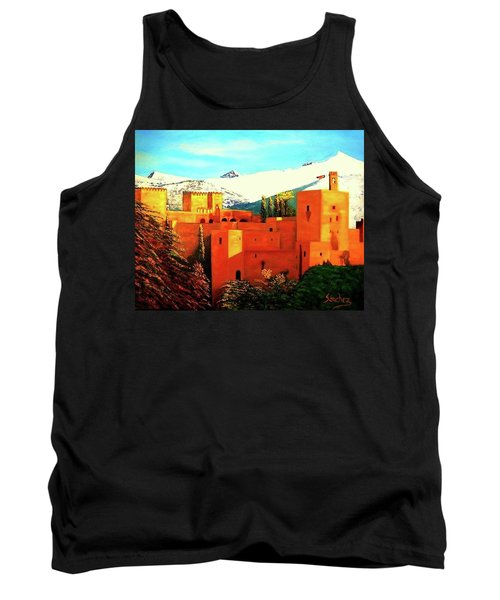 The Alhambra Of Granada Tank Top by Manuel Sanchez