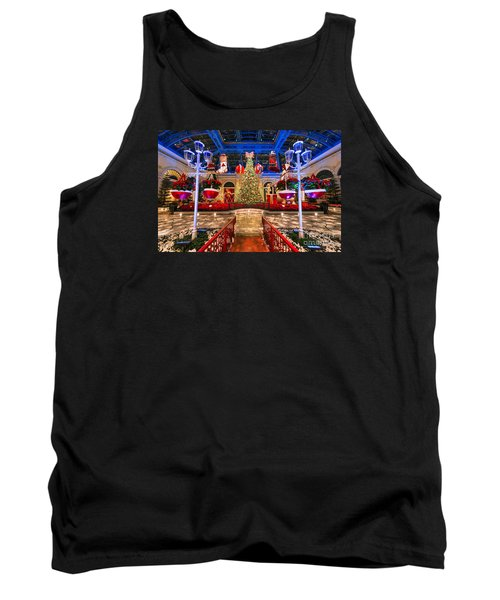 Tank Top featuring the photograph The Bellagio Christmas Tree And Decorations 2015 by Aloha Art