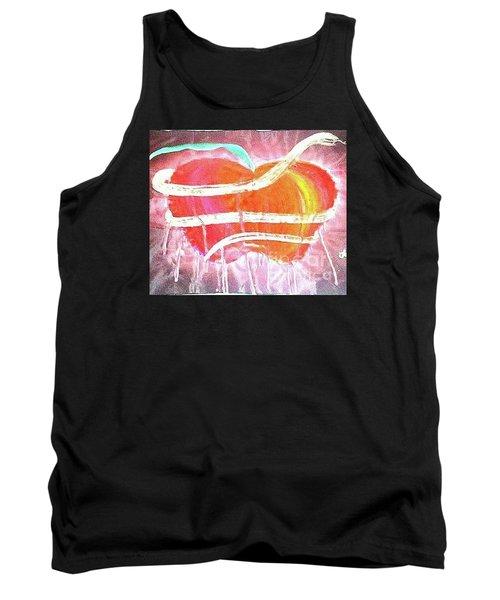 The Bleeding Heart Of The Illuminated Forbidden Fruit Tank Top by Talisa Hartley