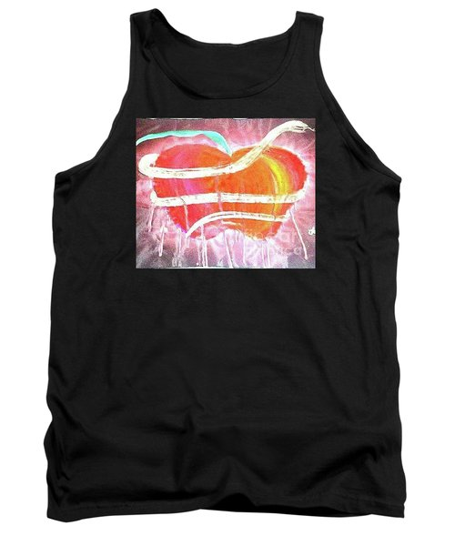 The Bleeding Heart Of The Illuminated Forbidden Fruit Tank Top
