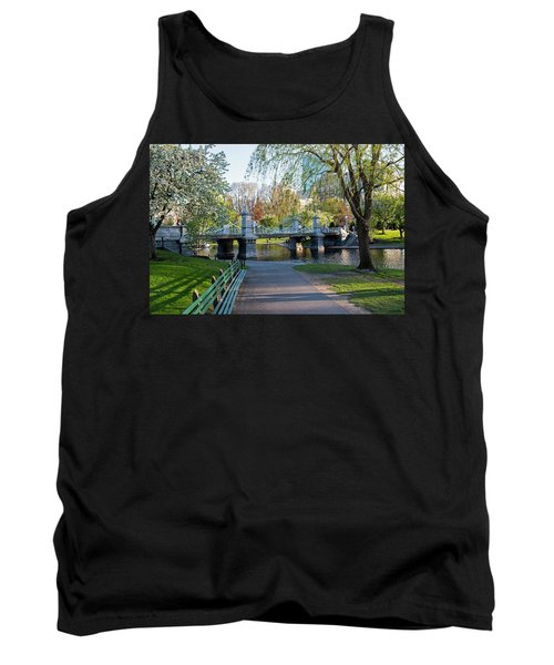 The Boston Public Garden In The Spring Boston Ma Tank Top