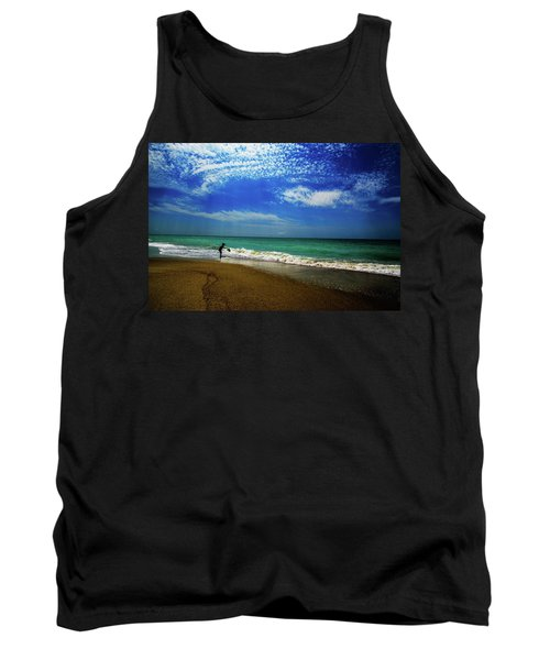 Tank Top featuring the photograph The Boy At The Beach  by John Harding