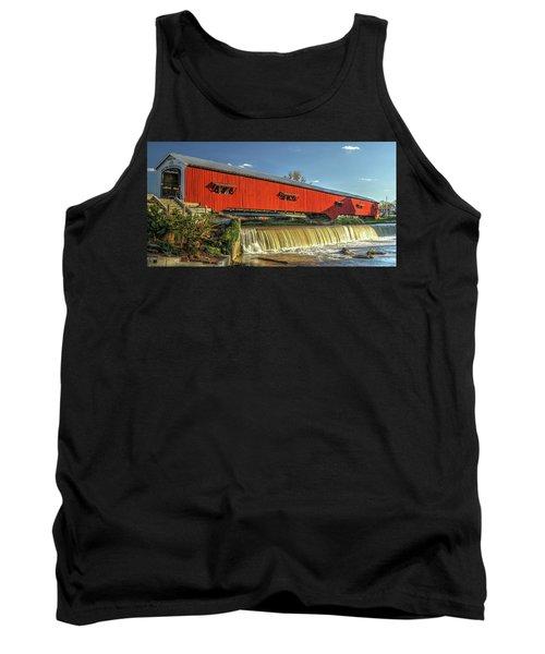 The Bridgeton Covered Bridge Tank Top by Harold Rau