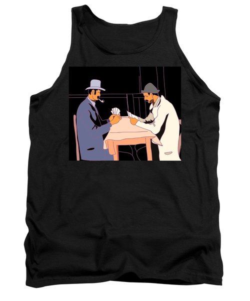 The Card Players Tank Top