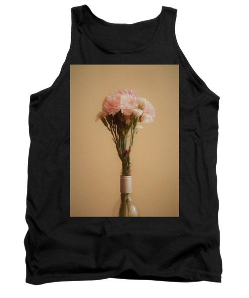 Tank Top featuring the digital art The Carnations by Ernie Echols
